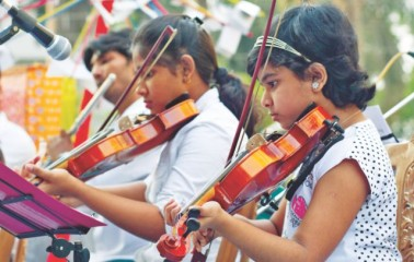 Members of CMA Orchestra perform at the inauguration. Photo Courtesy: Pictorhyme Pictures
