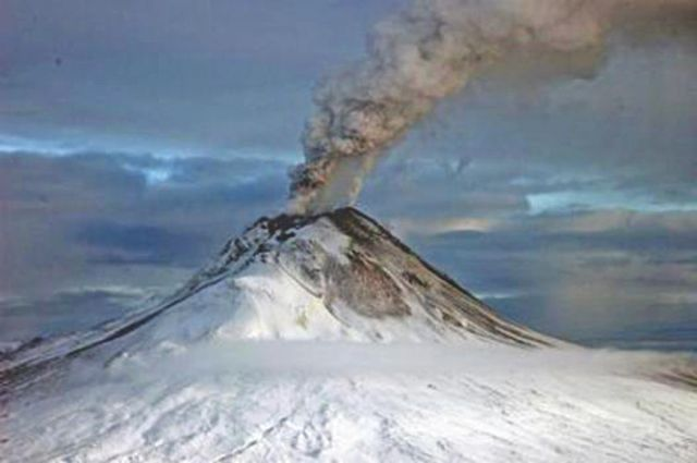 Emissions from moderate volcanoes around the world like the Augustine Volcano in Alaska can mask some of the effects of global warming.