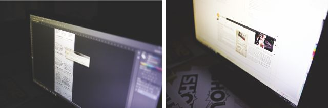 Graphic work for the supplement.