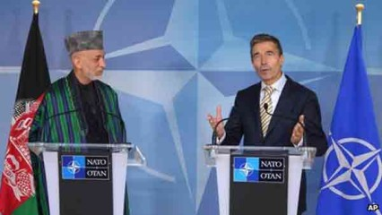 Rasmussen said Isaf's role was gradually shifting 'from combat to support'