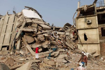The photo shows rubble of the collapsed building at Savar. Star file photo