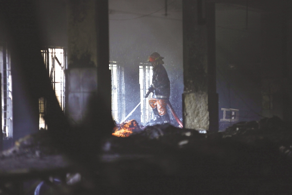 Investigations reveal that there were no fire exists in the factory, the staircases and exits were obstructed in most of the floors and the main door was locked from outside. Photo: Rashed Shumon