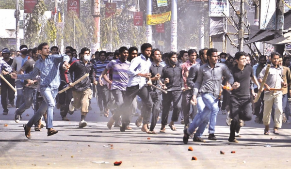 The demonisation and dehumanisation of politics in Bangladesh has made public life a living hell. Photo: Anurup Kanti Das