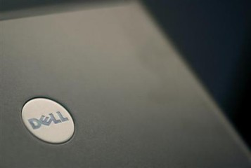 Files photograph of a Dell laptop computer in New York