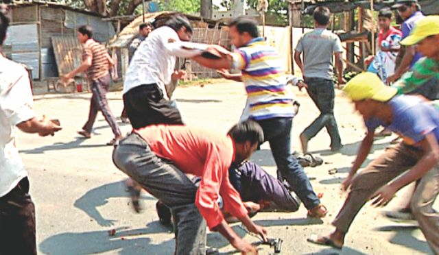 Jahangir Alam keeps on getting blow after blow while a Shibir activist finally picks up his sidearm.