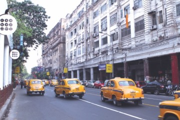 Colonial buildings and Ambassadors are part of Calcutta's old world charm. Photo: Zahedul I Khan