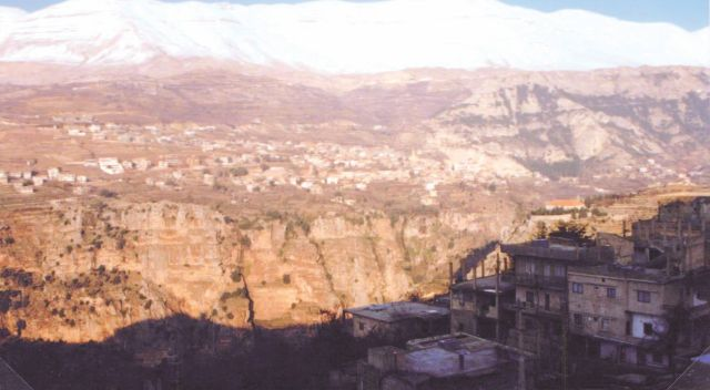The Kadisha Valley in northern Lebanon.
