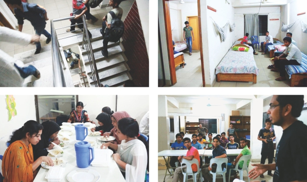 All the participants went through a process of getting accustomed before starting the workshop- after arrival, they got accomodated into their rooms, they ate and then were briefed by the project coordinators.  Photos: Kazi Tahsin Agaz Apurbo