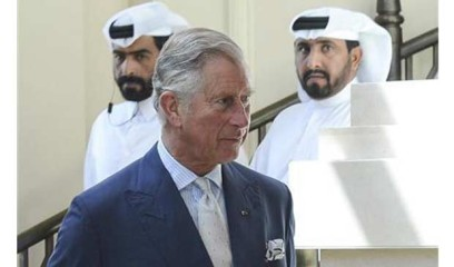 Britain's Prince Charles arrives to meets with Qataris who studied in Britain during a reception at a hotel in Doha March 14. Photo: Reuters