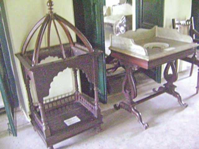 Relics on display at the museum display Rabindranath's rich aesthetic sensibilities.  Photo: Star