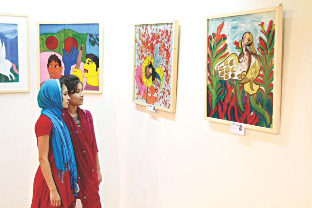 Visitors at the exhibition.   Photo: Atl Aakash