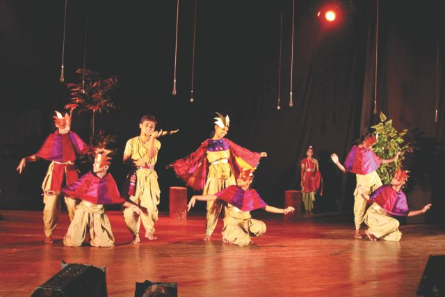 Underprivileged children stage a play. Photo: Atl Aakash