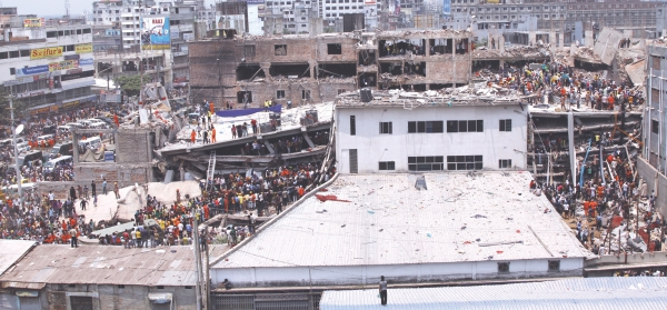 Rana Plaza in Savar collapsed on April 24, leaving hundreds dead and over a thousand injured.  Photo: Prabir Das
