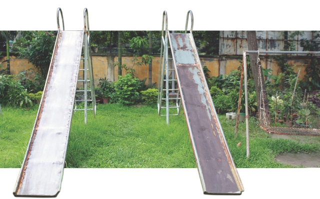 OF EMPTY  PLAYGROUNDS  AND GAMES  ON HOLD