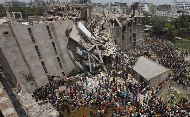 This April 24 photo shows the rear view of what once used to be a nine-storey Rana Plaza. Star file photo