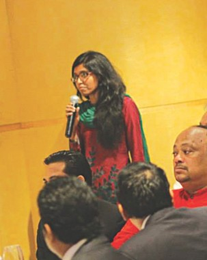 Launching ceremony of Teach For Bangladesh, where young individuals ask questions about the leadership programme. Photo Courtesy: Teach for Bangladesh