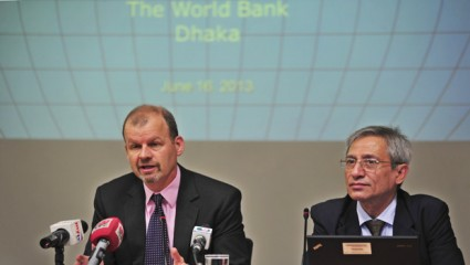 World Bank Country Director Johannes Zutt speaks during a WB media briefing on 'The FY14 Budget' at its Dhaka office on Sunday. Photo: Firoz Ahmed