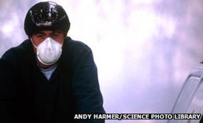 A mask may not provide enough protection against air pollution, according to experts. This photo is taken from BBC.