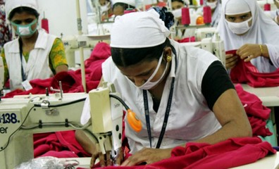 This Star file photo shows female garment workers sewing clothes at a garment factory in Dhaka.