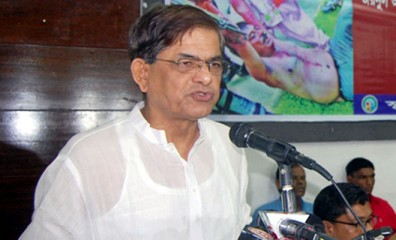 This July 5 photo shows BNP acting secretary general Mirza Fakhrul Islam Alamgir speaking at a programme at the Jatiya Press Club in the capital.