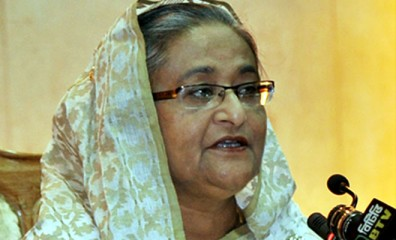 This July 23 photo shows Prime Minister Sheikh Hasina addressing a Deputy Commissioners' Conference at the International Conference Centre in the Premier's Office.