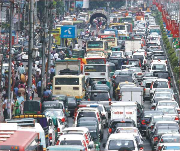 dhaka citys traffic jam and planned In dhaka city, acute traffic congestion kills hours every day most of the major roads as well as collector roads are blocked in peak hours well planned for residential areas (eg dhanmondi), with well designed, and implemented road.